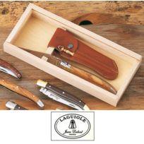 Laguiole - Coffret de 1 couteaux de poche pliant manche Bois d Olivier 79103-Couteaux de Poche en coffret bois