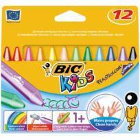 Bic Kids - craie plastidecor triangulaire - etui de 12