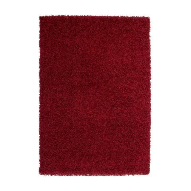 deladeco tapis de salon uni en polypropyl ne bordeaux hollywood pas cher achat vente tapis. Black Bedroom Furniture Sets. Home Design Ideas