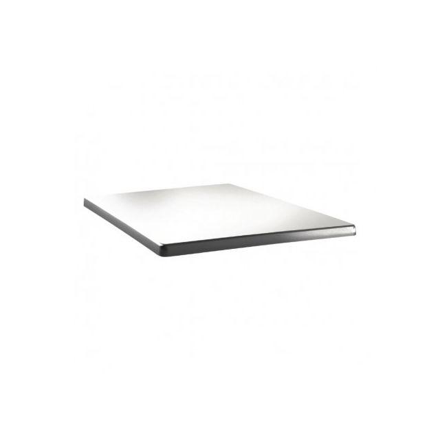 Topalit Plateau de table carré 700 x 700 mm - Blanc pur Blanc 700 mm