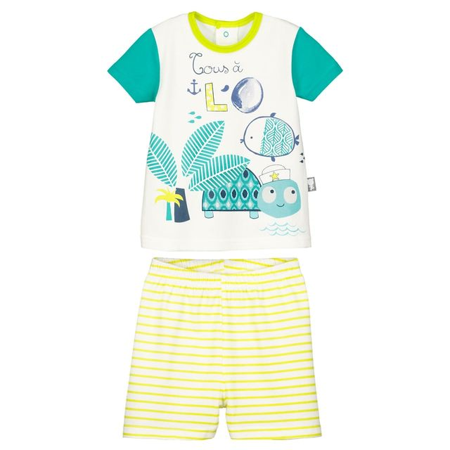 e3ddad2c44a54 Petit Beguin - Ensemble t-shirt et short bébé garçon Nino - Taille - 36 mois  98 cm Multicolore - pas cher Achat   Vente Ensembles - RueDuCommerce