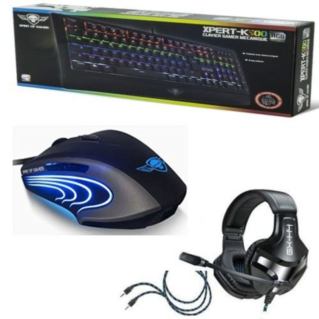 Spirit Of Gamer Pack Gaming pour Pc : Clavier mécanique