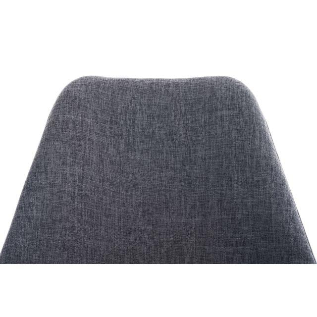 Contemporain Chaise de salle à manger, de cuisine, de salon Georgetown en tissu carré noyer