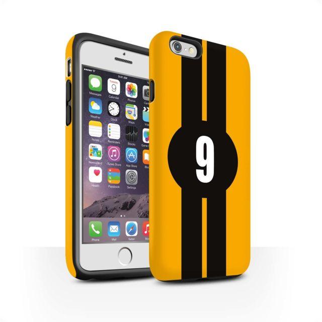 coque iphone xr jaune mat