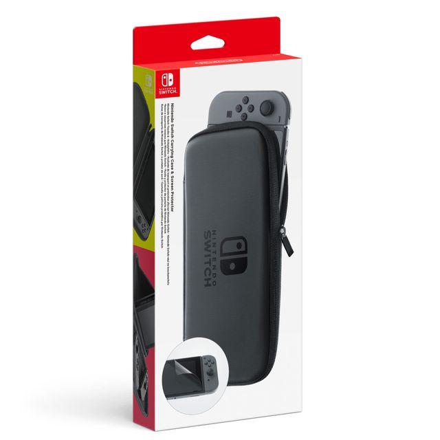 NINTENDO - Set d'accessoires pochette de transport et protection d'écran Switch
