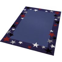 Wecon Home - Tapis Just Stars Bleu étoiles chambre garçon par - Couleur - Bleu, Taille - 80 / 150 cm