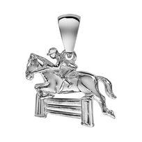 1001BIJOUX - Pendentif Cheval saut d'obstacle en argent