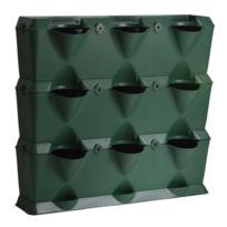 Minigarden - Vertical - Kit de Jardin Végétal Vertical Vert à 3 niveaux - 9 modules
