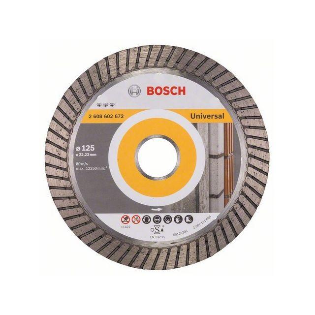 Bosch Universal Turbo Brush: Disque Diamant Universel Pour Meuleuses Ø125mm