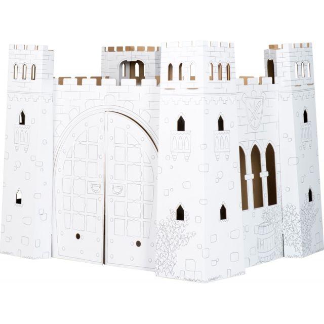 Small Foot Company Maison de jeu en carton à colorier 'Chateau-fort