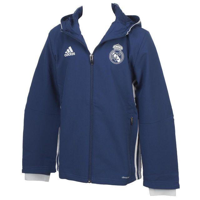 33b851cf5128f Adidas - Vestes replica officielle Real veste jr 16 17 Bleu 38736 - pas  cher Achat   Vente Doudoune enfant - RueDuCommerce