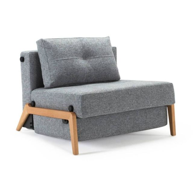 Inside 75 Fauteuil design Sofabed Cubed Wood Twist Granite convertible lit 200 96 cm