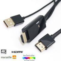 TBS - 2234 Upscaler Actif HDMI UHD 4K - Upscaler vos sources en meilleur qualité - Passez d'une basse résolution SD/HD à la Full HD/4K chaînes TV, films, dvd etc Puce Marseille VTV-1222