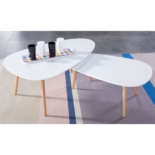 table basse kivi lot de 2 tables basses gigognes