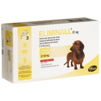 Zoetis - Pack 7 X Eliminall Chiens 2-10 Kg 67 Mg 3 Pipetes
