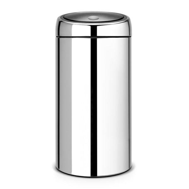 Brabantia Poubelle Touch Bin®, 45 litres - Brilliant Steel