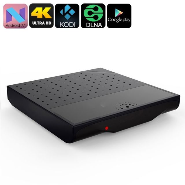 Yonis Mini Pc Android Tv Box 7.1 Nougat portable 4K OctaCore Wifi 8Go Noir