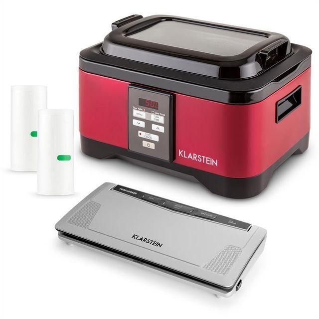 KLARSTEIN Tastemaker & FoodLocker Set machine mise sous vide + cuiseur + sacs
