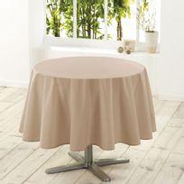 Douceur D'INTERIEUR - Nappe de table ronde Ø180cm essentiel lin antitache