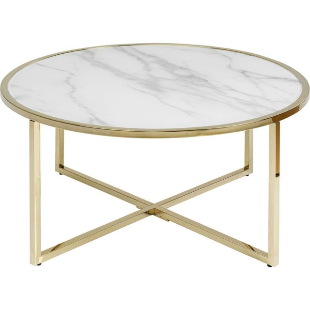 Karedesign Table basse West Beach laiton 80cm Kare Design