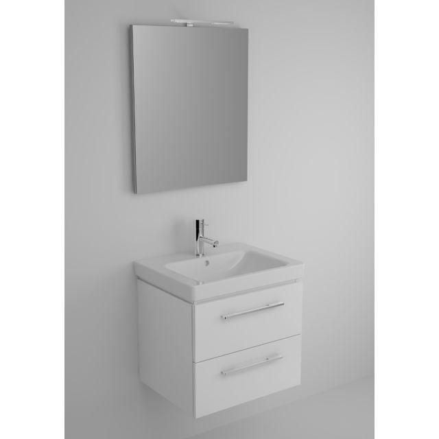 Riho Ensemble meuble & lavabo Altare Set 30 en bois laqué brillant 60x47 x H56,5 cm