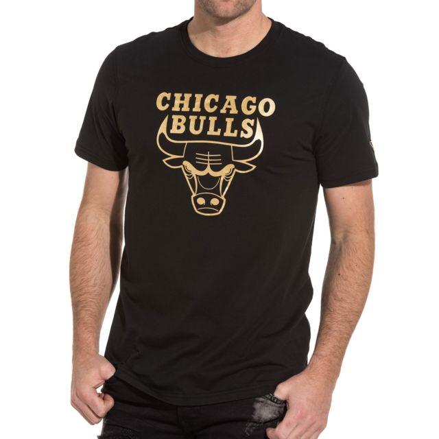 Era Chicago New T Pas Noir Shirt Doré Cher Graphique Bulls Et lK1cT3JF