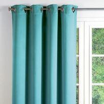Rideaux bleu turquoise achat rideaux bleu turquoise pas cher rue du commerce - Rideau voilage bleu turquoise ...