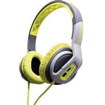 Soul - Casque sport supra-aural Transform micro-casque, volume réglable, résistant à la sueur vert, gris
