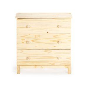 alin a lyba commode 3 tiroirs en bois brut pas cher achat vente boite de conservation. Black Bedroom Furniture Sets. Home Design Ideas