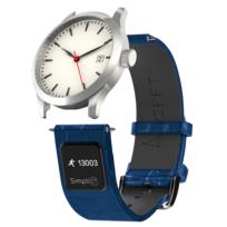 Ct Band - Simpli Ct by Rifft - Bracelet de montre connecté mixte - 22mm en cuir bleu