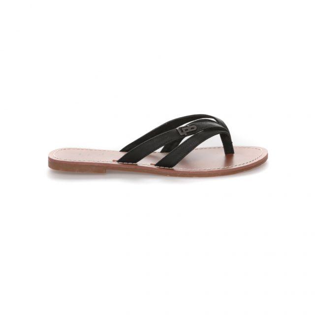 cd22c009529b Lpb Shoes-les Petites Bombes - Tong Kalinda Noir - pas cher Achat ...