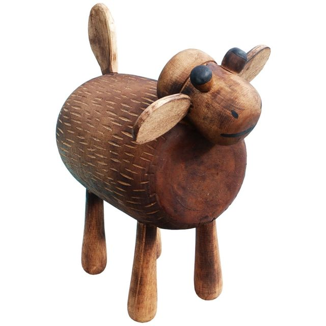 Les Animaux De La Fee Tabouret enfant Mouton Déco bois taille L