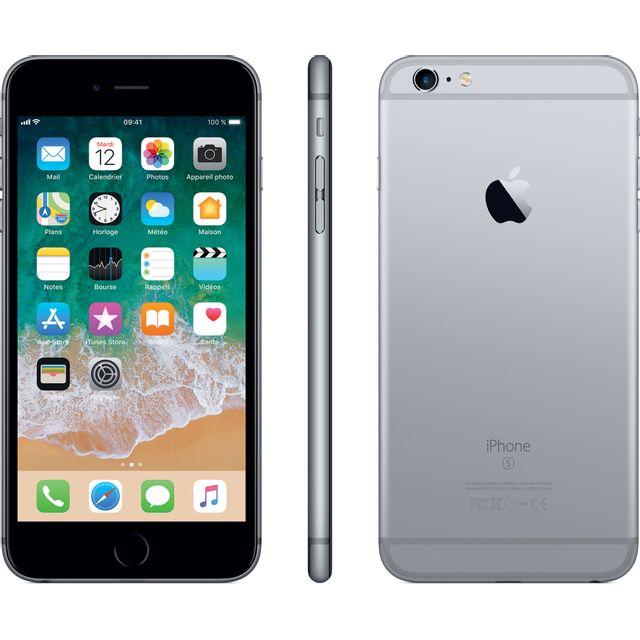 """APPLE iPhone 6S Plus - 32 Go - MN2V2ZD/A - Gris Sidéral Ecran Retina HD 5,5"""" en 1080 x 1920 pixels (401 ppp) - Nouvelle fonction 3D Touch - iOS 11 - Processeur Apple A9 - Nano-SIM - Mémoire Intégrée (ROM) 32 Go - Batterie 2915 mAh - Appareil Photo 12"""