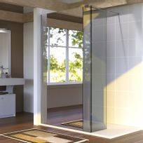 Creazur - Paroi de douche fixe avec retour 8 mm Baya - 100+40 cm et miroir