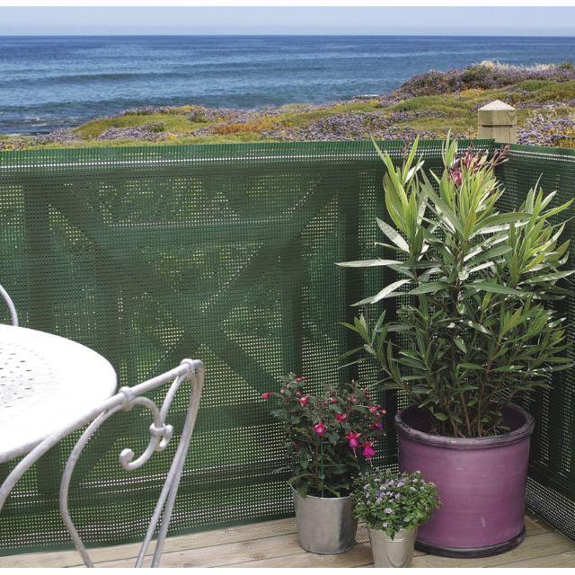 intermas brise vue plastique rigide vert 80 occultant 1. Black Bedroom Furniture Sets. Home Design Ideas