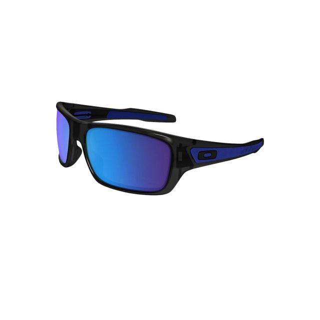 bd7327c971b701 Oakley - Lunettes de soleil Turbine Black Ink Sapphire Iridium - pas cher  Achat   Vente Lunettes Tendance - RueDuCommerce