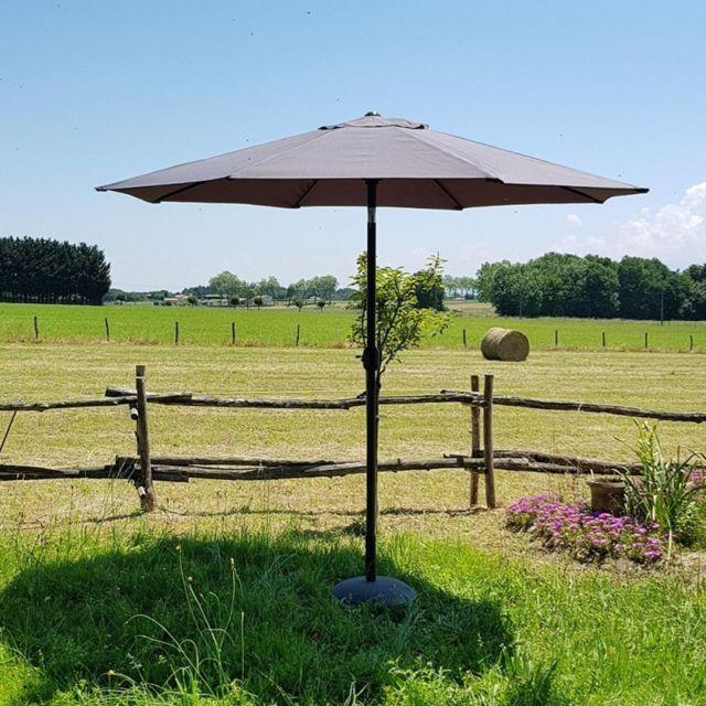 sunnydays parasol inclinable avec manivelle diam tre 300 cm gris pas cher achat vente. Black Bedroom Furniture Sets. Home Design Ideas