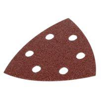 Kreator - Lot de 5 patins triangulaires auto-agrippants - grain 40 - 90x90x90 mm
