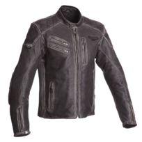 4c3926fe180 SEGURA - blouson moto HANK cuir homme vintage toutes saisons noir SCB1170