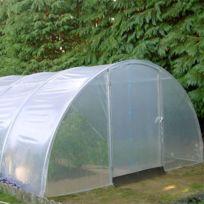 Richel - Serre de jardin 4m50x6m tunnel 2 portes + 2 compléments 40.5 m2