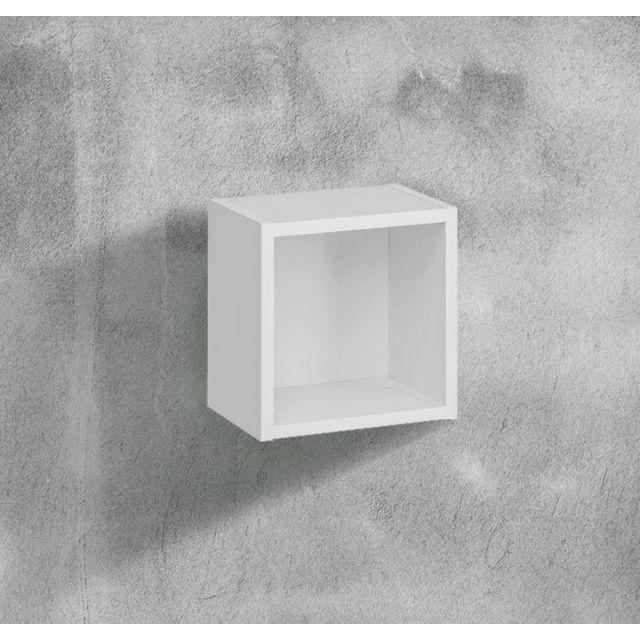 Design Ameublement Armoire mural modèle Martina C35x35 35x35cm, blanc