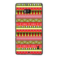 Kabiloo - Coque souple pour Nokia Lumia 930 avec impression Motifs aztèque jaune et rouge