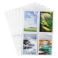 Elba Modling - Pochette transparente 4 photos 10 x 15 cm Elba 24 x 31 cm incolore - Sachet de 10