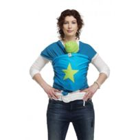 Bykay - Echarpe de portage Bleu pétrole&Etoile verte S