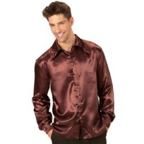 Homme Taille Blanche 240093 Sans Chemise Satinée Medium Ifb6gY7yv