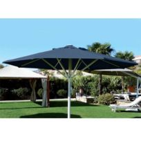 Abritez-vous Chez Nous - Parasol aluminium diam. 6m Maxisoco Bleu Marine