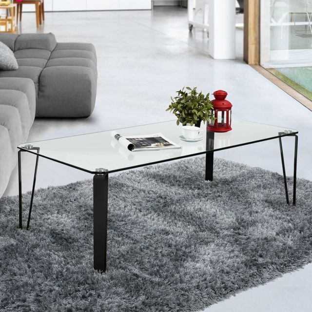 Ego Design Table basse en verre Percy noir