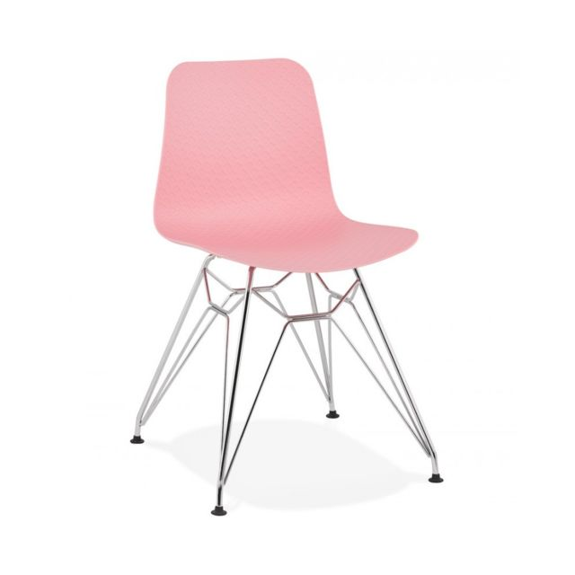 Chaise design Fifi Pink 47x49x83 cm