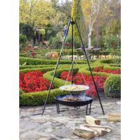 Cook - Maison De La Tendance - La poêle, le Wok à feu de camp spécial brasero sur trépied Ø 46 cm + Brasero Pan 60 cm