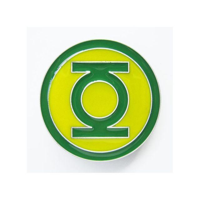 Universel Boucle de ceinture green lantern super hero jaune vert mixte